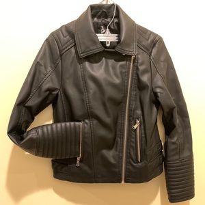 Faux kids Leather Biker Jacket